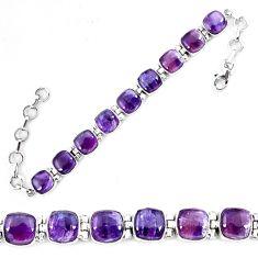 Natural multi color fluorite 925 sterling silver tennis bracelet jewelry d13846