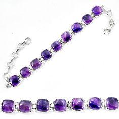Natural multi color fluorite 925 sterling silver tennis bracelet jewelry d13847