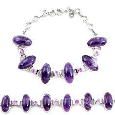 925 silver natural multi color fluorite amethyst tennis bracelet jewelry d17960