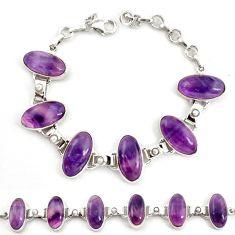 Natural multi color fluorite pearl 925 sterling silver tennis bracelet d17969
