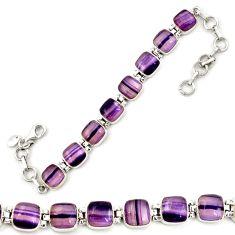 Natural multi color fluorite 925 sterling silver tennis bracelet jewelry d18016
