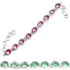 Purple alexandrite (lab) 925 sterling silver tennis bracelet jewelry d18041