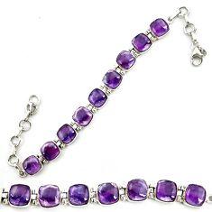 Natural multi color fluorite 925 sterling silver tennis bracelet jewelry d18066