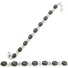 925 sterling silver natural rainbow obsidian eye tennis bracelet d20464