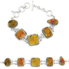 Titanium druzy fancy 925 sterling silver bracelet jewelry d23902