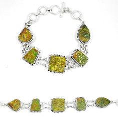 Titanium druzy fancy 925 sterling silver bracelet jewelry d23903