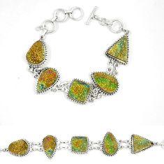 Titanium druzy fancy shape 925 sterling silver bracelet jewelry d23906