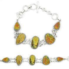 Titanium druzy fancy shape 925 sterling silver bracelet jewelry d23908