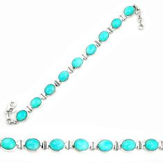 Clearance Sale- 925 sterling silver natural green peruvian amazonite tennis bracelet d25444