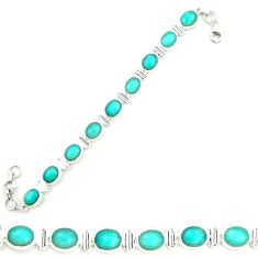 Clearance Sale- 925 sterling silver natural green peruvian amazonite tennis bracelet d25865
