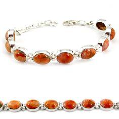 Multi color ocean sea jasper (madagascar) 925 silver tennis bracelet j21735