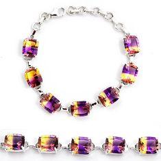 Multi color ametrine (lab) amethyst 925 sterling silver bracelet jewelry j22982