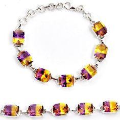 Multi color ametrine (lab) amethyst 925 sterling silver bracelet jewelry j22984