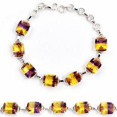 Multi color ametrine (lab) amethyst 925 sterling silver bracelet jewelry j22987