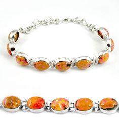 Natural multi color ocean sea jasper (madagascar) 925 silver bracelet j39095