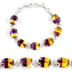 Multi color ametrine (lab) 925 sterling silver bracelet jewelry j39123