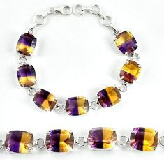 Multi color ametrine (lab) octagan925 sterling silver bracelet jewelry j39124