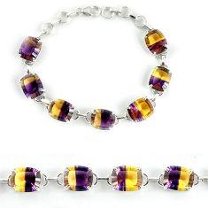 Multi color ametrine (lab) 925 sterling silver bracelet jewelry j39126
