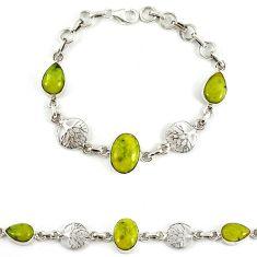925 silver natural yellow lizardite (meditation stone) bracelet jewelry j39169