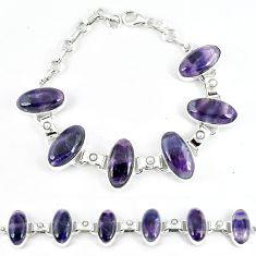 Natural multi color fluorite pearl 925 sterling silver bracelet jewelry j47454