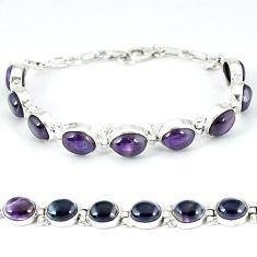 Natural multi color fluorite 925 sterling silver tennis bracelet j47478