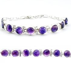 925 sterling silver natural multi color fluorite tennis bracelet jewelry j52336