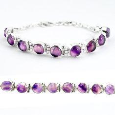Natural multi color fluorite 925 sterling silver tennis bracelet jewelry j52338