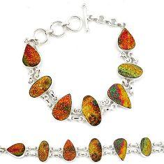 Titanium druzy 925 sterling silver tennis bracelet jewelry j52388