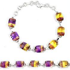 Multi color ametrine (lab) oval 925 sterling silver bracelet jewelry k16521