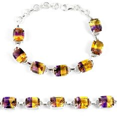Multi color ametrine (lab) 925 sterling silver bracelet jewelry k17180