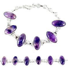 Natural multi color fluorite white pearl 925 sterling silver bracelet k28856