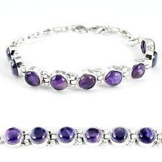 Natural multi color fluorite 925 sterling silver bracelet jewelry k28874