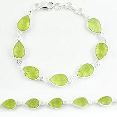 925 sterling silver natural lemon topaz carved pear tennis bracelet k33494