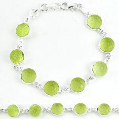 925 sterling silver natural lemon topaz carved round tennis bracelet k33495