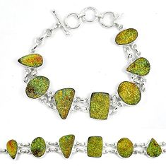 925 sterling silver natural multi color pyrite druzy bracelet jewelry k33839