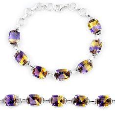 Multi color ametrine (lab) 925 sterling silver tennis bracelet jewelry k38161