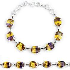 Multi color ametrine (lab) 925 sterling silver tennis bracelet jewelry k38162