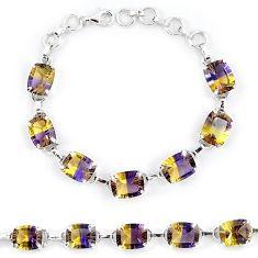 925 sterling silver multi color ametrine (lab) tennis bracelet jewelry k38163