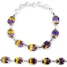 925 sterling silver multi color ametrine (lab) octagan tennis bracelet k38165
