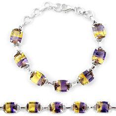 Multi color ametrine (lab) 925 sterling silver tennis bracelet jewelry k38166