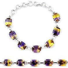 Multi color ametrine (lab) 925 sterling silver tennis bracelet jewelry k38167