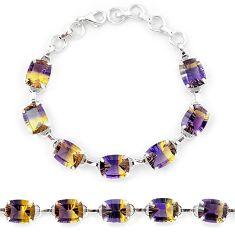 Multi color ametrine (lab) 925 sterling silver tennis bracelet jewelry k38168