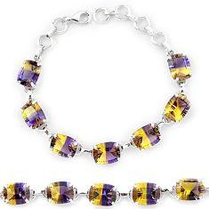 Multi color ametrine (lab) 925 sterling silver tennis bracelet jewelry k38169