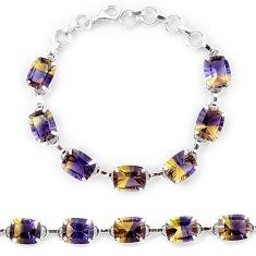 Multi color ametrine (lab) 925 sterling silver tennis bracelet jewelry k38170