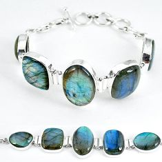 925 silver natural yellow flash labradorite spectrolite tennis bracelet k59968