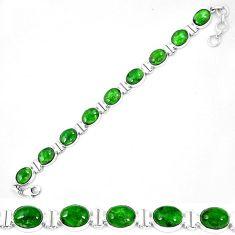 925 sterling silver natural green chrome diopside tennis bracelet k74048