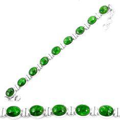 Natural green chrome diopside 925 sterling silver tennis bracelet k74049