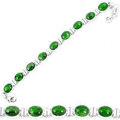 Natural green chrome diopside 925 sterling silver tennis bracelet k74050