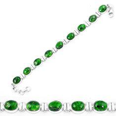 Natural green chrome diopside 925 sterling silver tennis bracelet k74051