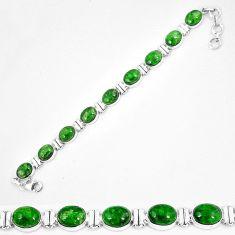 Natural green chrome diopside 925 sterling silver tennis bracelet k74052